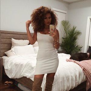 Dresses - White Knit Dress